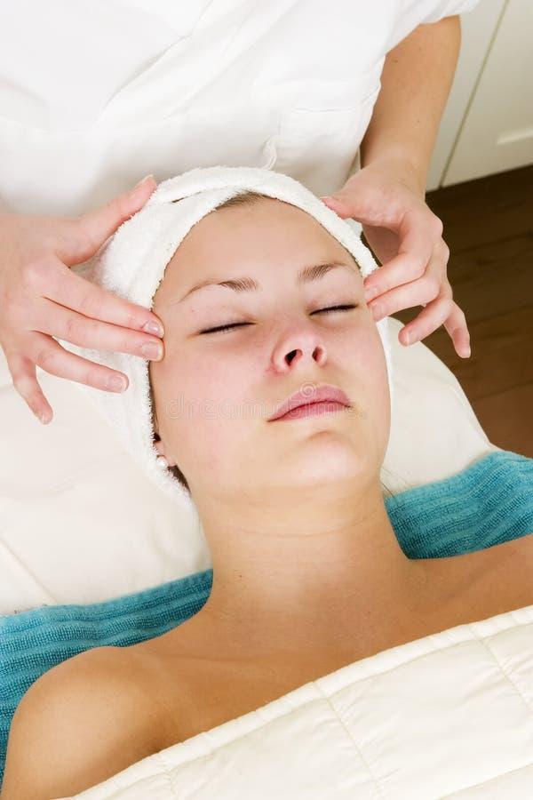 Massagem facial foto de stock royalty free