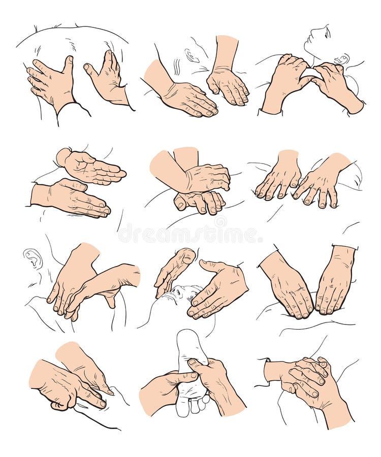 Massagem manual terapêutica Terapia médica ilustração royalty free