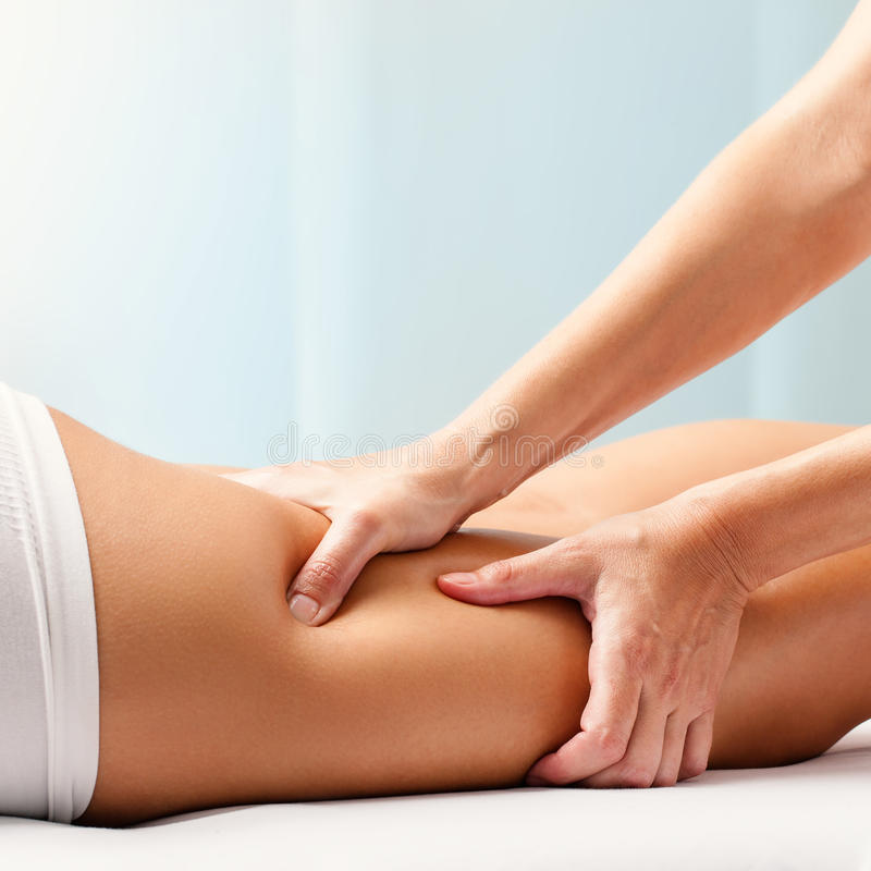 Massagem Osteopathic da limitação imagem de stock