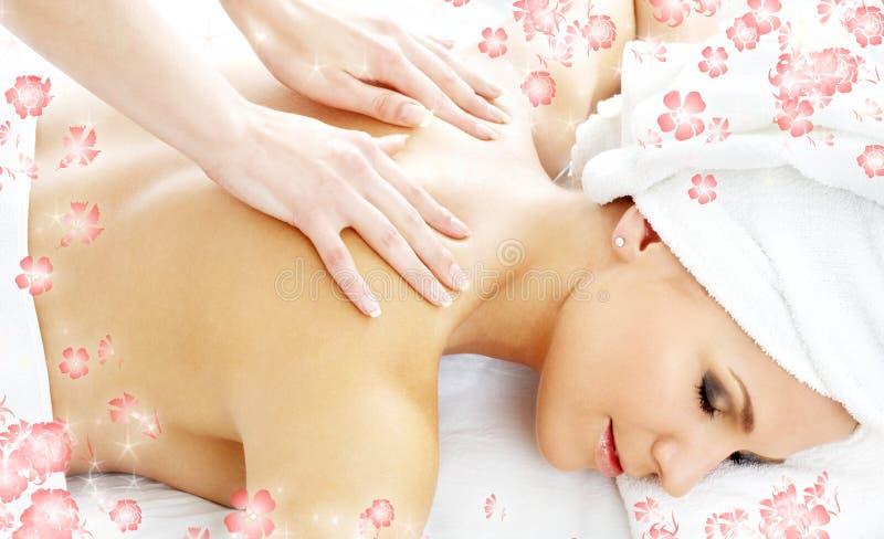 Massagem profissional com fluxo imagem de stock