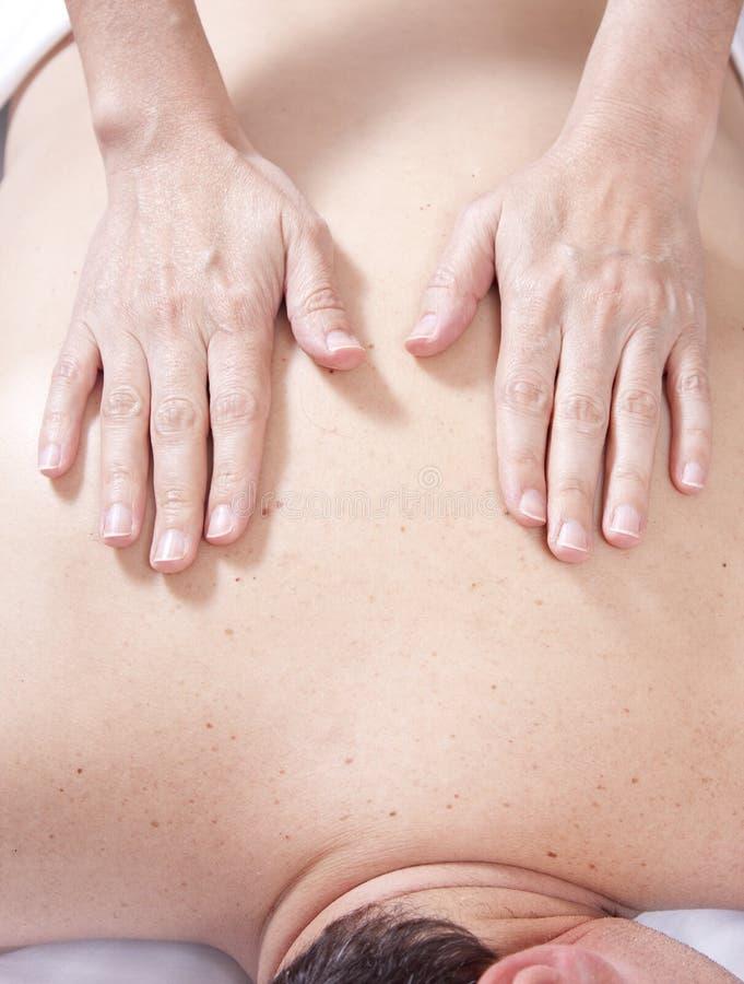 Massagem traseira fotografia de stock