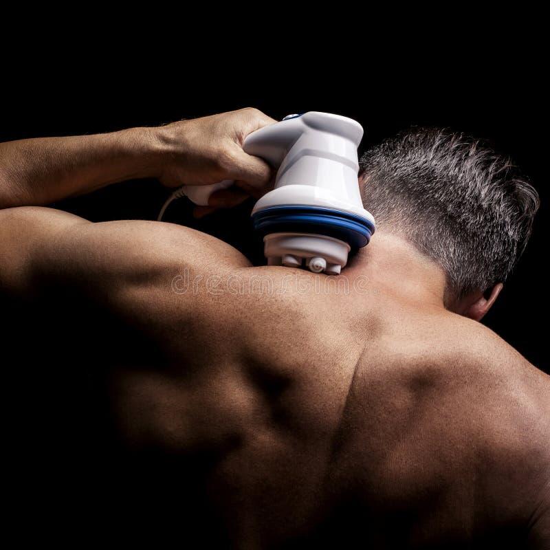 Massager del cuello del masaje imagen de archivo libre de regalías