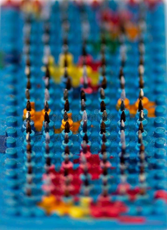 massager flexível Multi-colorido do tapete com needl magnético de aço fotos de stock