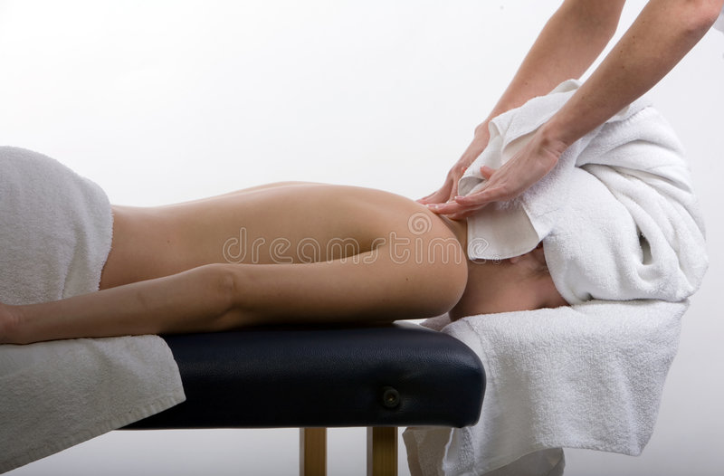 Massagetherapie lizenzfreie stockfotografie