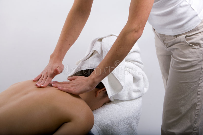 Massagetherapie lizenzfreies stockfoto