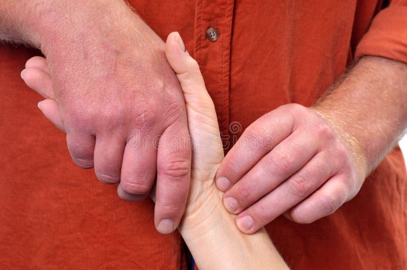 Massagetherapie stockbild