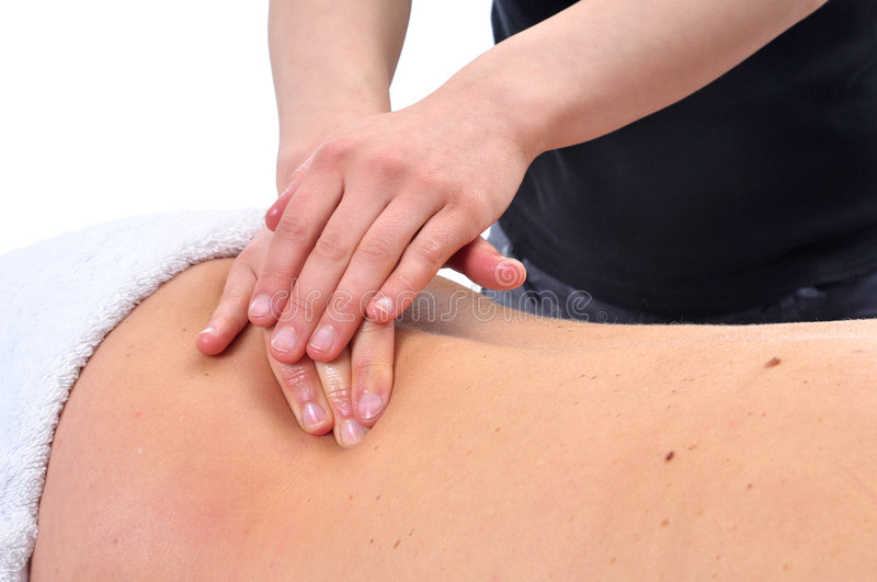 Massagetherapie lizenzfreie stockfotografie