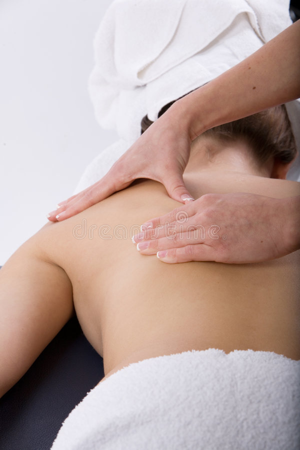 Massagetherapie stockfotos