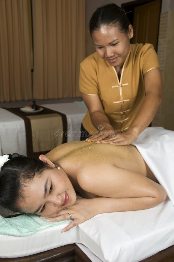 Massagetherapie lizenzfreie stockfotos