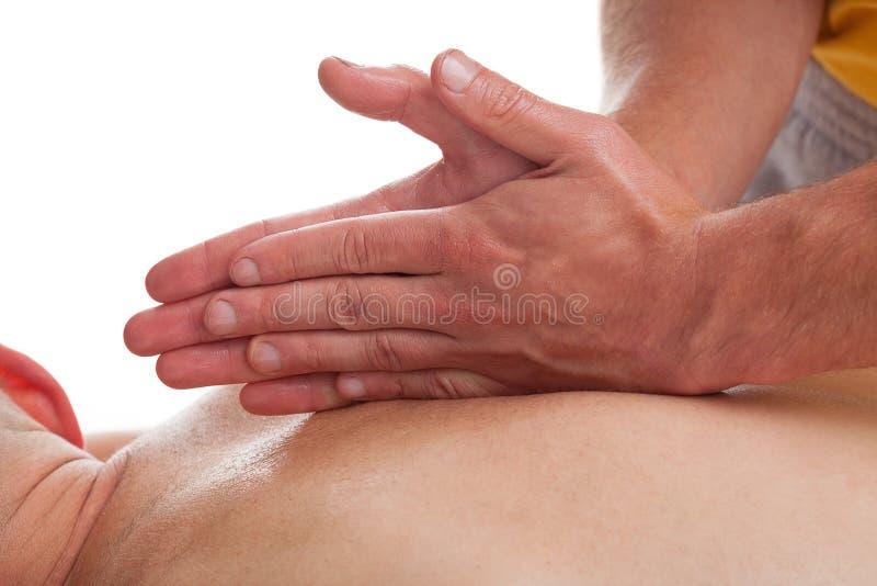 Massagetherapie im Sport stockfotos