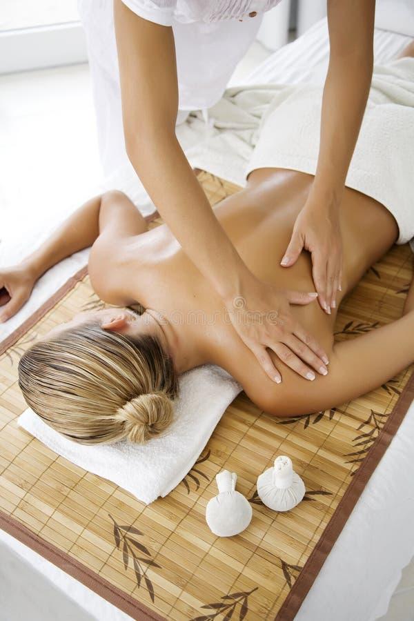 Massaggio fotografia stock