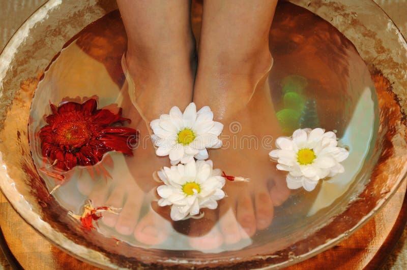 Massaggio dei piedi fotografia stock libera da diritti