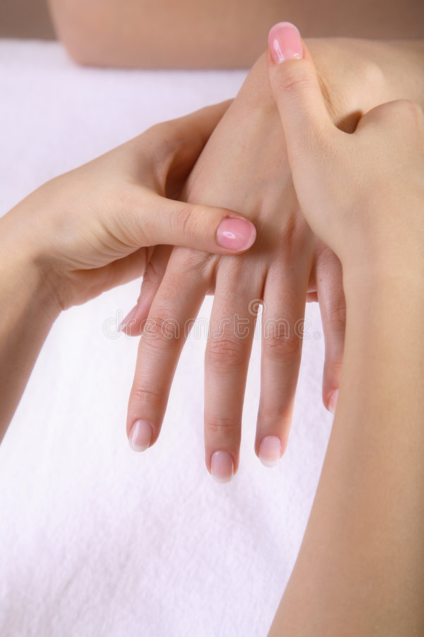Massaggio della mano immagine stock