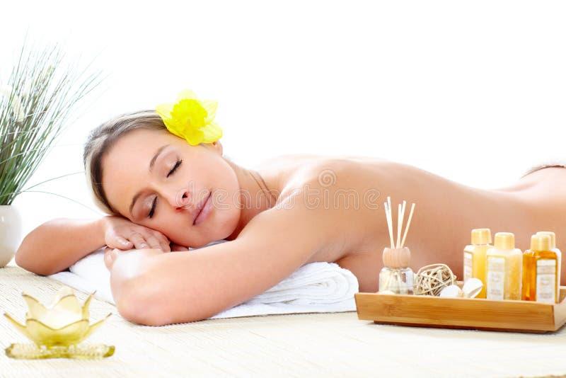 massaggio della stazione termale fotografia stock