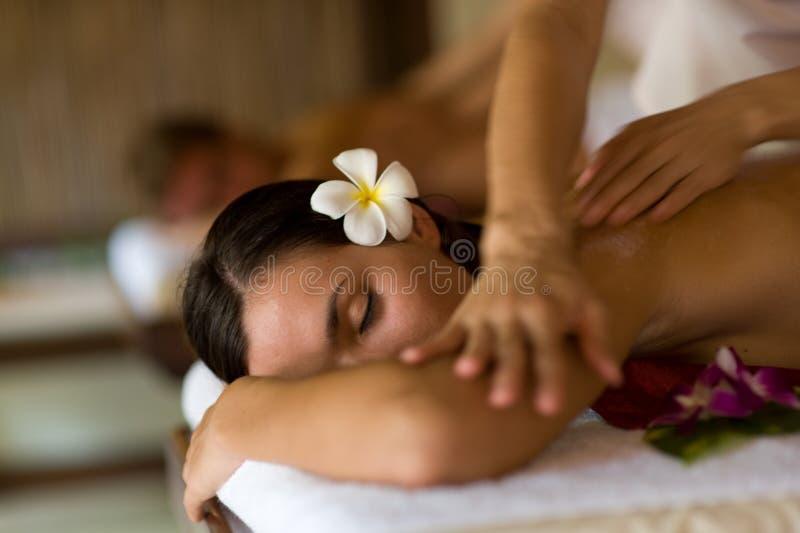 Massaggio della stazione termale fotografie stock libere da diritti