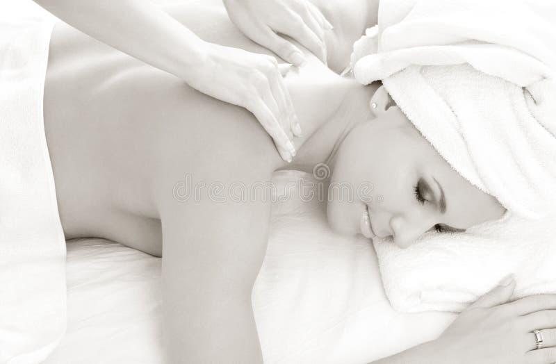 Massaggio monocromatico #2 fotografie stock
