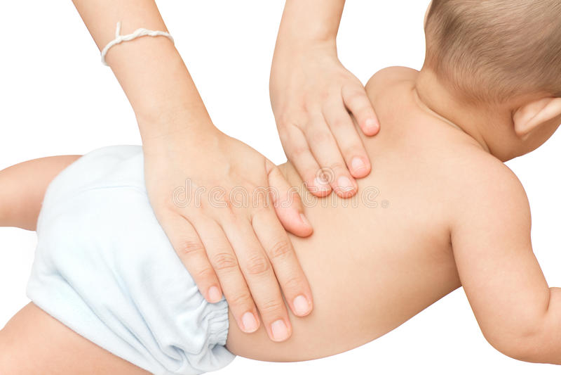 Massaggio posteriore del bambino fotografie stock libere da diritti