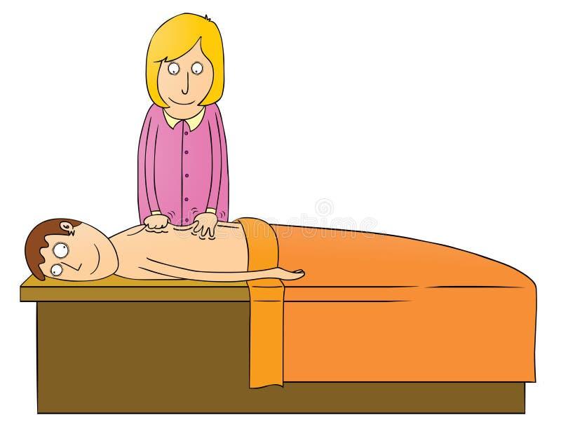 Massaging girl