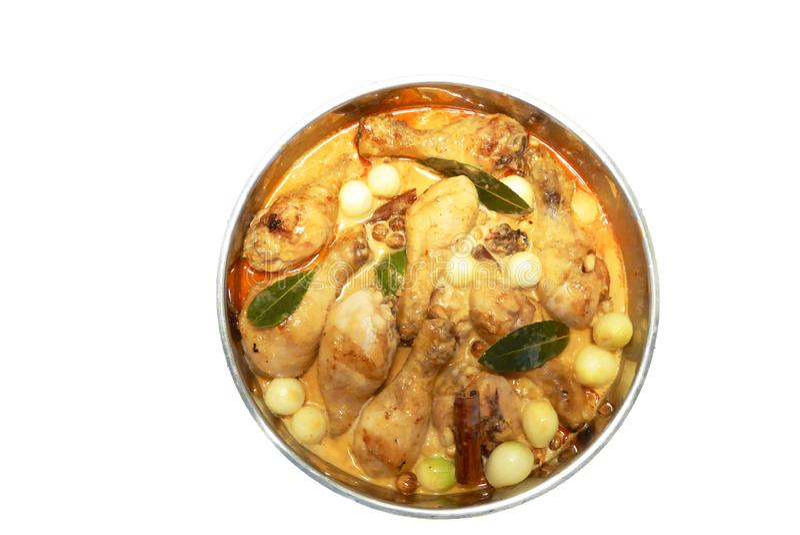 Massaman chicken Indian food in Thai style cuisine stock photo