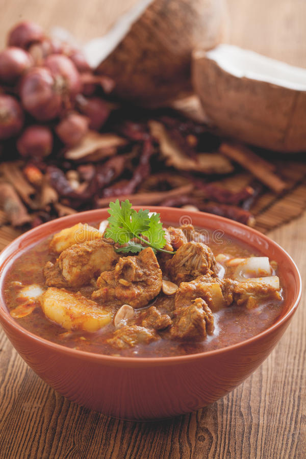 Massaman de boeuf photo stock