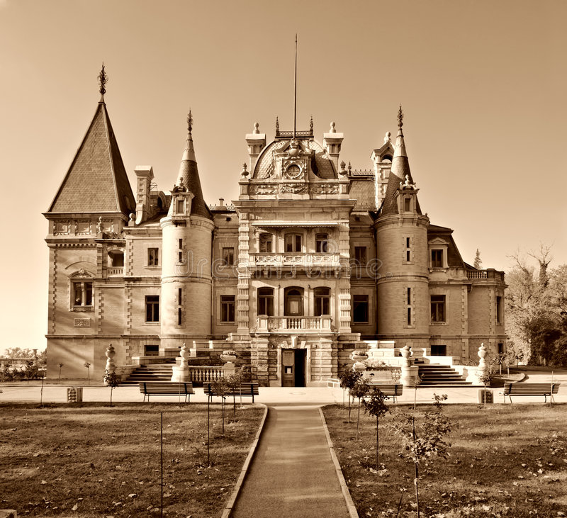 massandra pałac sepia tonujący obraz royalty free