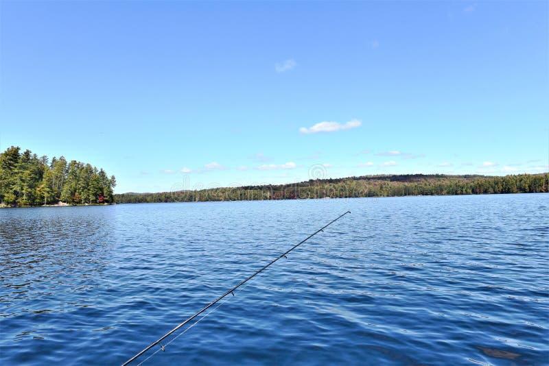Massawepie Seefischen adirondack Staat New-York USA lizenzfreies stockfoto