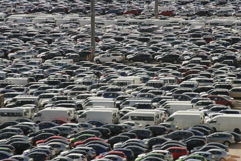 Masse der Autos stockfotografie