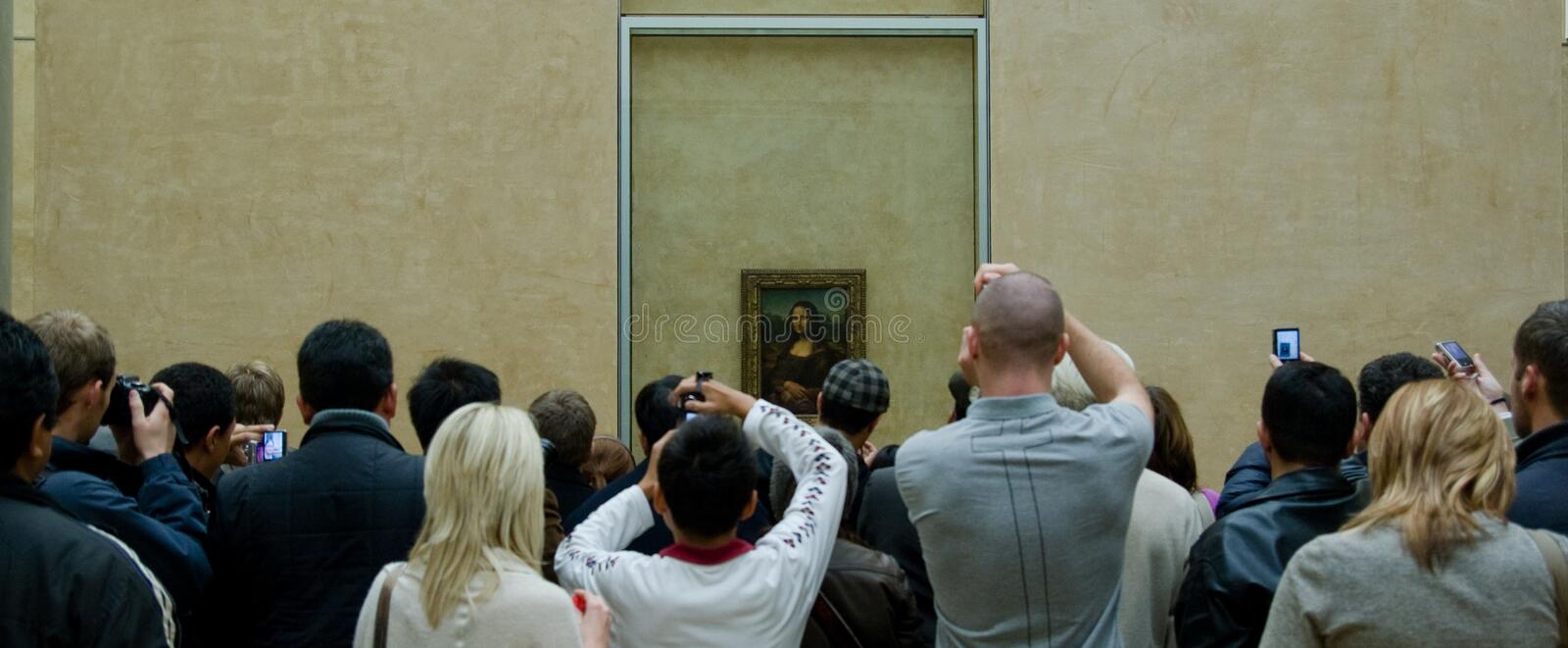 Masse Mona-Lisa stockfoto