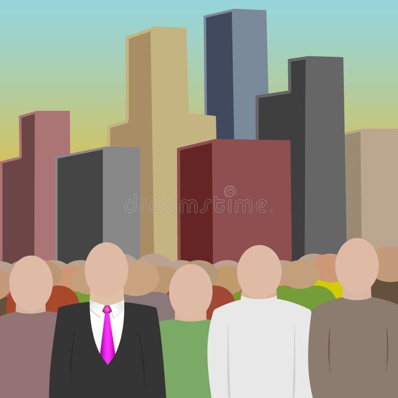 Masse und Stadt stock abbildung