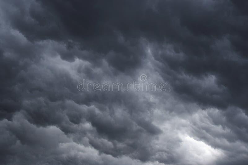 Massen der Wolken stockfoto