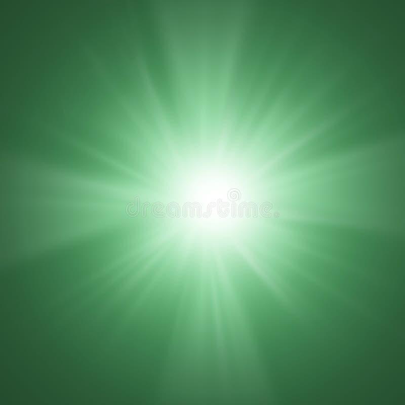 Massenstrahl der Leuchten stock abbildung