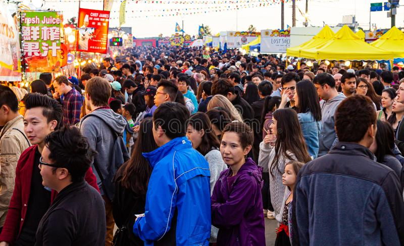 Masses at Night Market royalty free stock photography