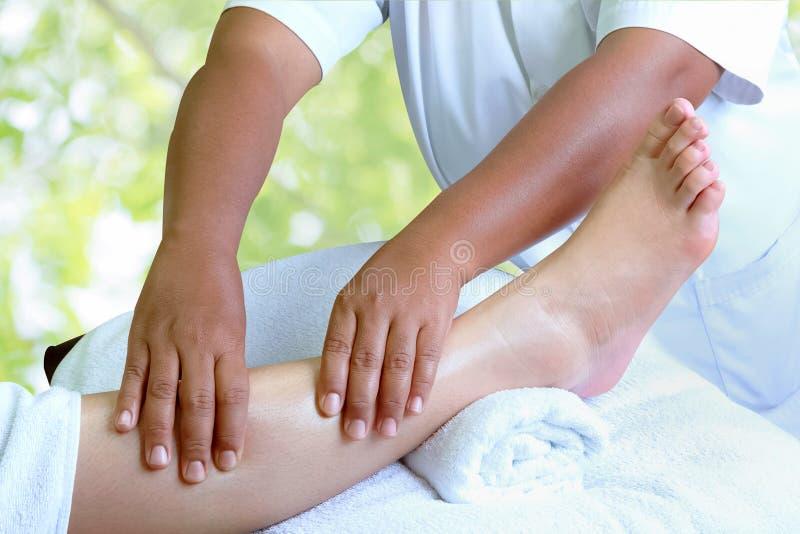 Masseur делая reflexology, тайский массаж ноги стоковые изображения rf