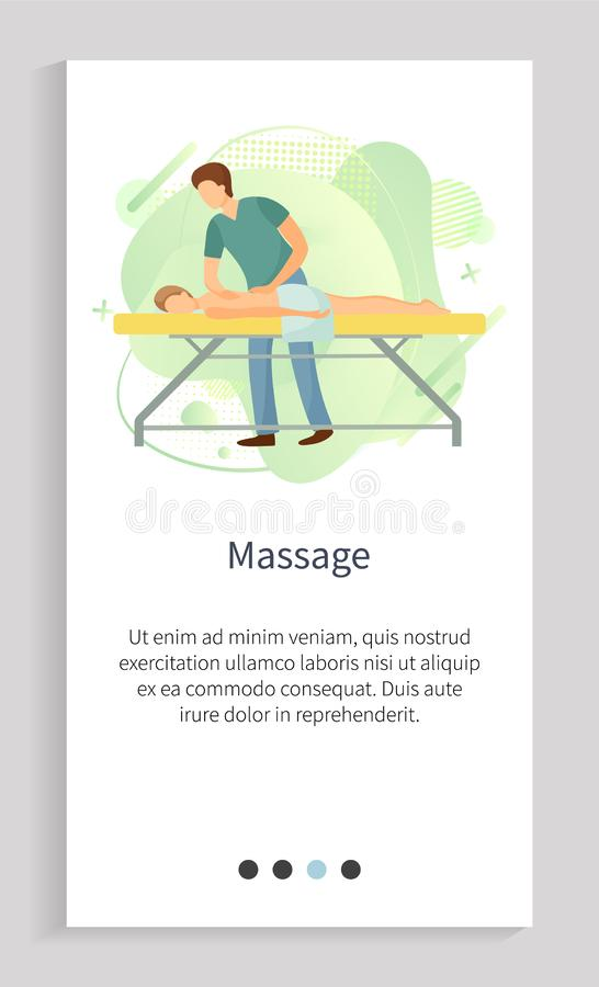 Massage Spa Procedure, Relaxing Person Vector royalty free illustration