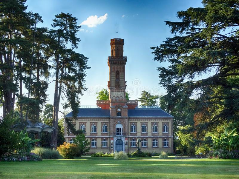 Massey-Museum und allgemeiner Garten in Tarbes Frankreich lizenzfreie stockfotografie