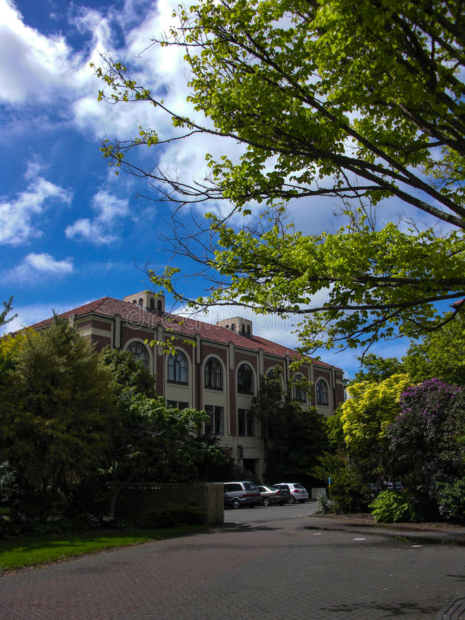 Massey universitet i Palmerston norr NZ arkivbild