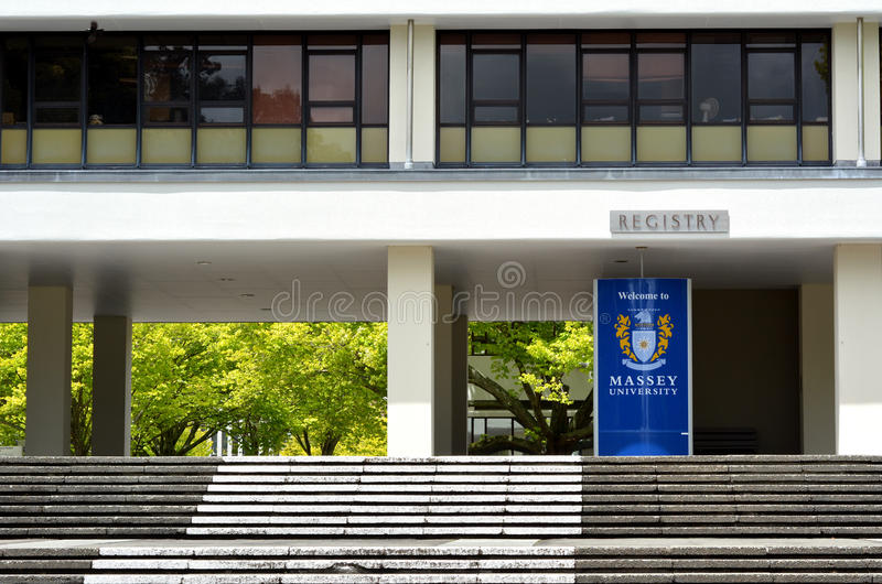 Massey University. PALMERSTON NORTH, NZL - NOV 29 2014:Massey University. It's the only university in New Zealand offering degrees in aviation, dispute stock photography