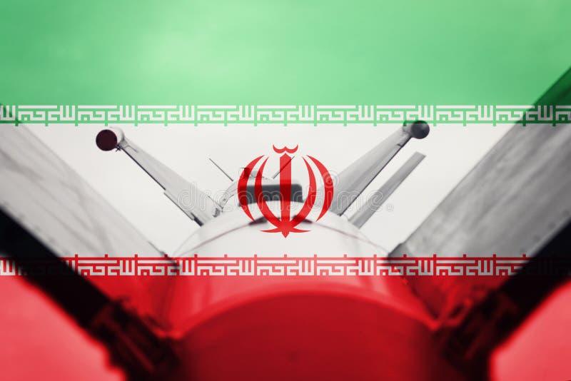 Massförstörelsevapen Iran ICBM missil Krigbakgrund fotografering för bildbyråer