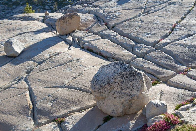 Massi al punto di Olmsted, parco nazionale di Yosemite immagine stock libera da diritti