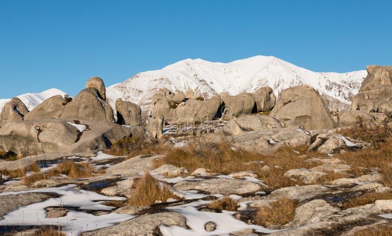 Massi del calcare di area di conservazione della collina del castello immagine stock libera da diritti