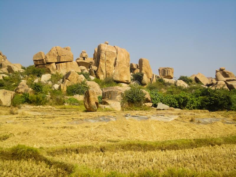 Massi di Hampi dall'India fotografia stock libera da diritti