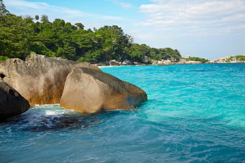Massi ed oceano fotografie stock libere da diritti