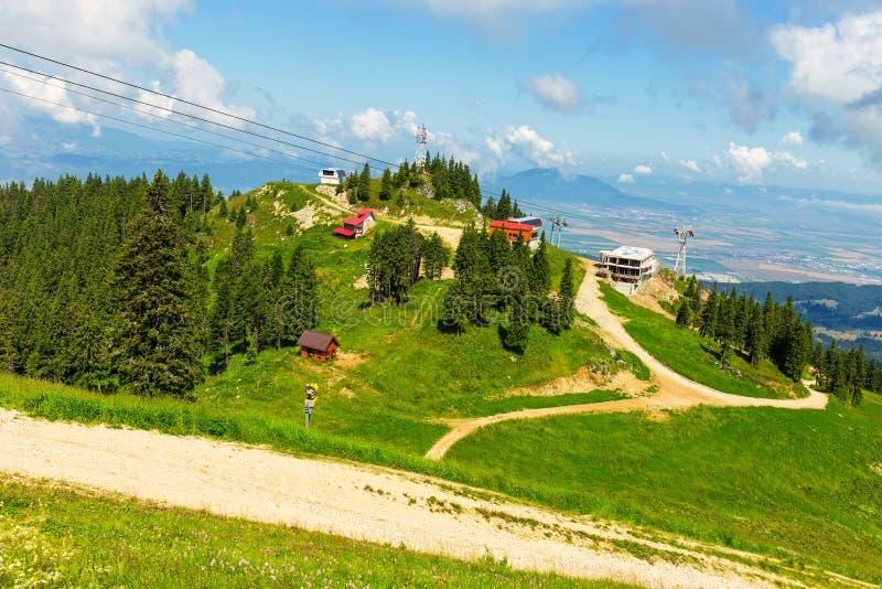 Massiccio di Postavarul, Poiana Brasov, Romania immagini stock libere da diritti