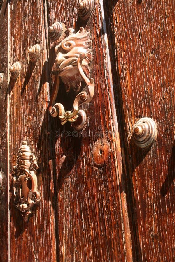Massief houten portaal royalty-vrije stock foto's