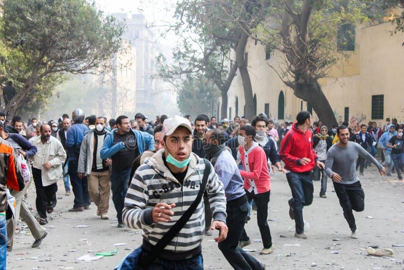 Massieve revolutie in Kaïro, Egypte royalty-vrije stock fotografie