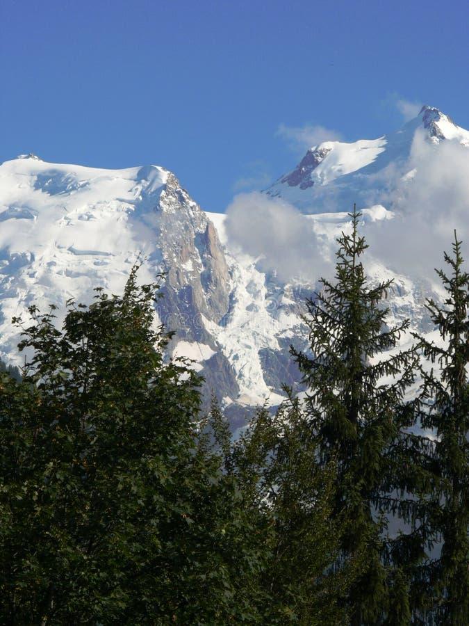 Massif de Mont Blanc dans les Alpes français photo libre de droits