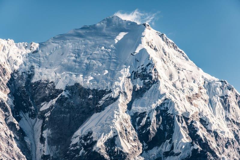 Massif de montagne du Népal Langtang photos libres de droits