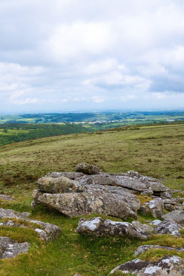 Massif de roche de Belstone sur Dartmoor photos stock