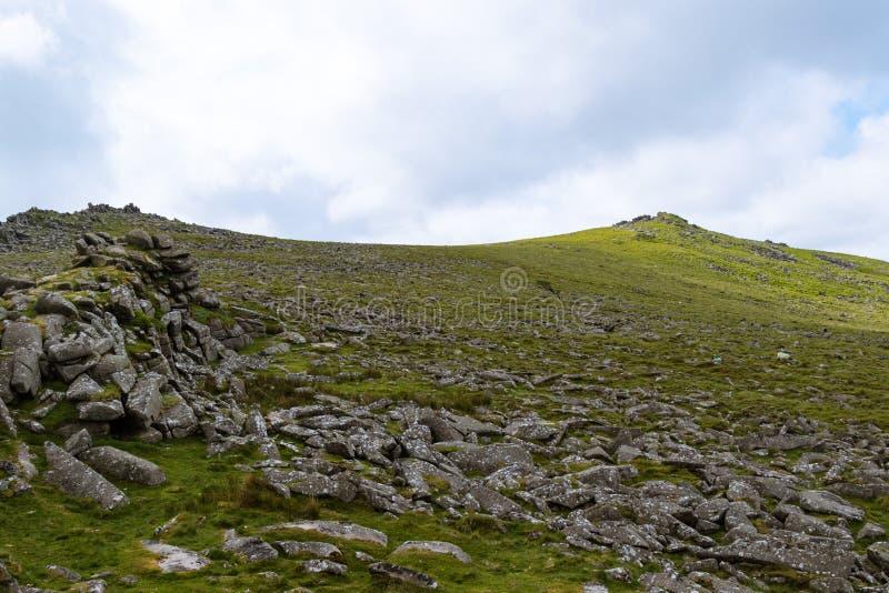 Massif de roche de Belstone sur Dartmoor photo libre de droits