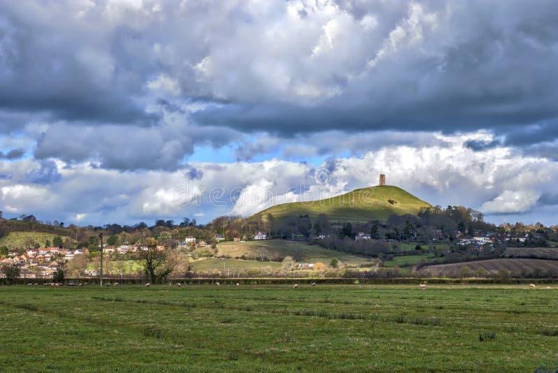 Massif de roche de Glastonbury photos stock